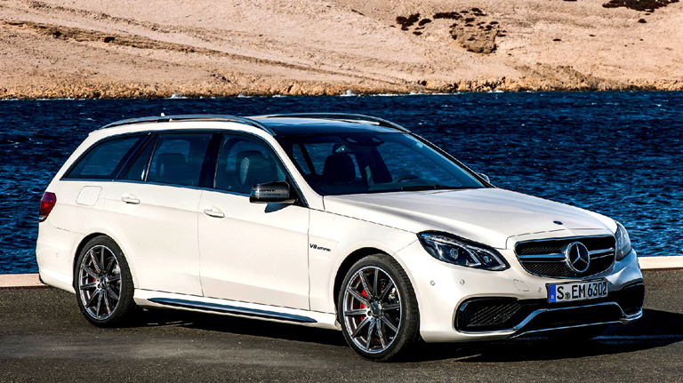 White AMG E63 AMG S 4MATIC Wagon