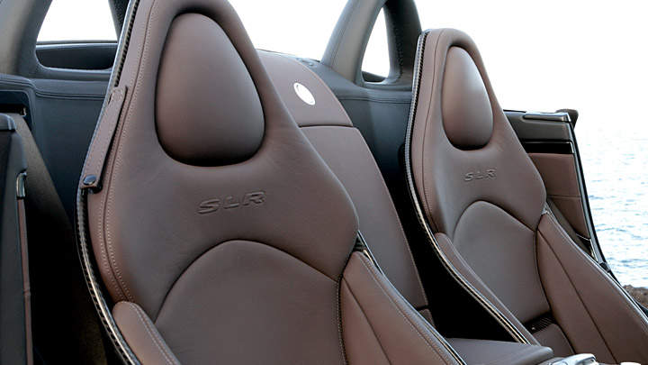 Carbon fiber seats covered in premium leather