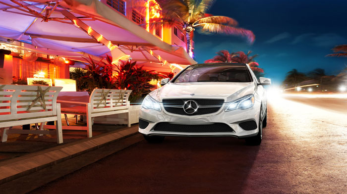 Coupe in designo Diamond White metallic with active full-LED headlamps