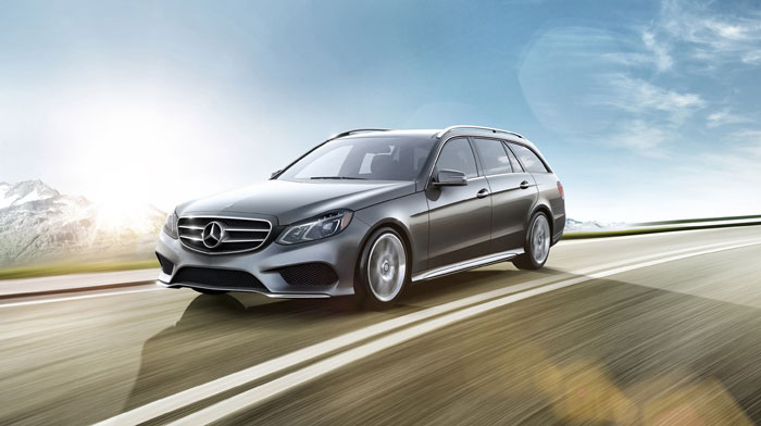 4MATIC Sport Wagon in Palladium Silver with 18-inch AMG wheels