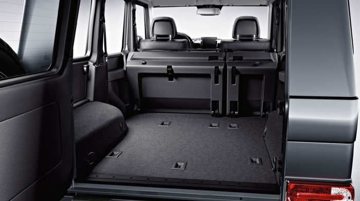 cargo area with folding rear seats