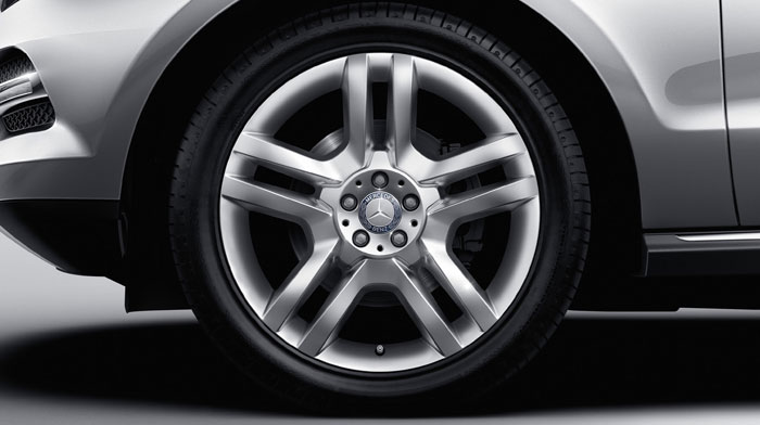 Available 20-inch twin 5-spoke alloy wheels