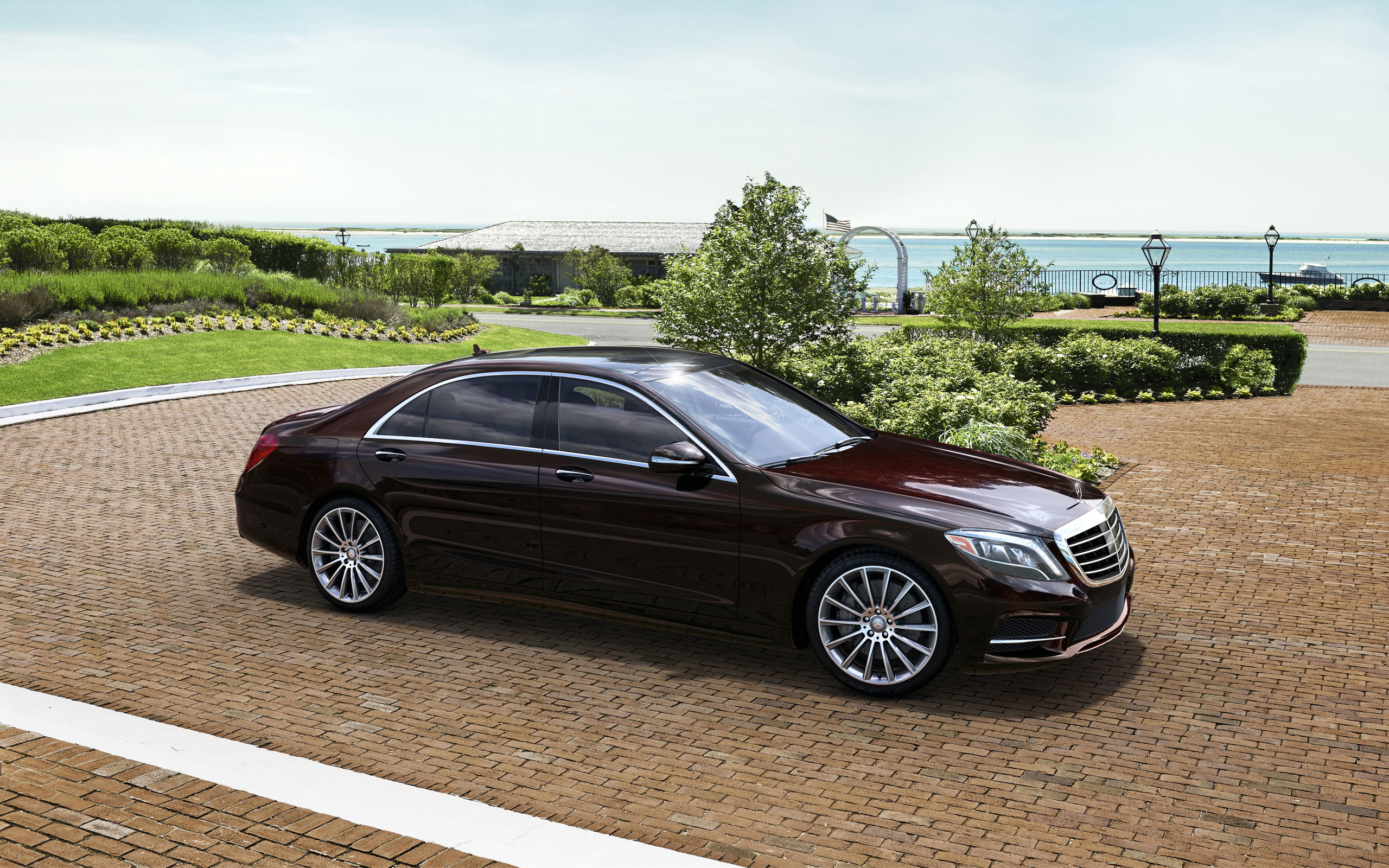 s550 in ruby black with sport package plus one - Mercedes Benz 2014 S Class Black