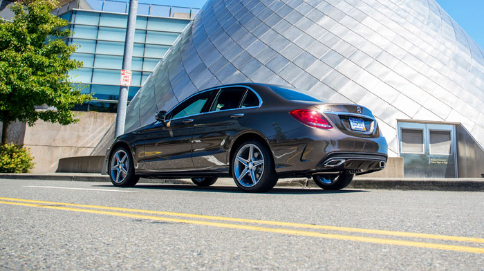 4MATIC Sedan in Dolomite Brown with 18-inch AMG 5-spoke wheels