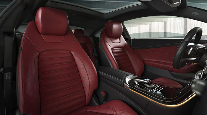 Coupe in Cranberry Red/Black leather and Premium 2 Package