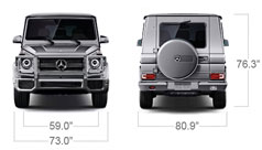 Mercedes-Benz 2014 G CLASS G63 AMG SUV SPECS FRONT BACK D