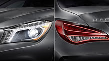 Bi-Xenon headlamps and LED taillamps