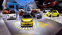 The smart fortwo opens up at the North American International Auto Show