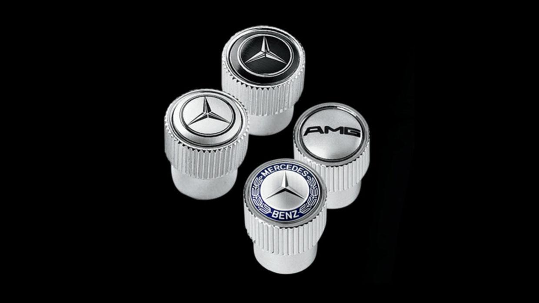 Mercedes-Benz MERCEDES BENZ TIRE VALVE STEM CAPS MCFO R
