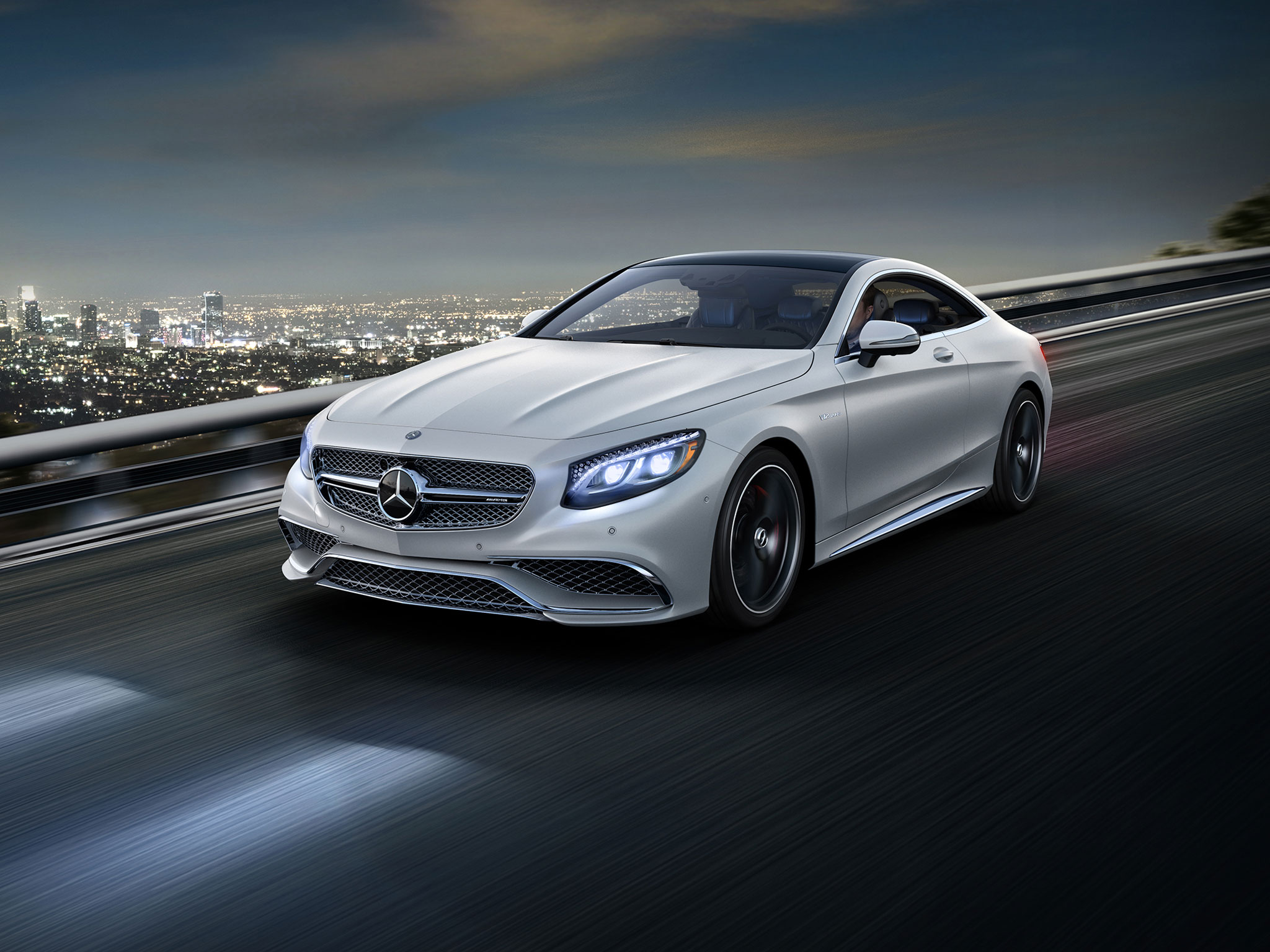 amg s65 coupe in designo magno cashmere white with black 20 inch amg wheels