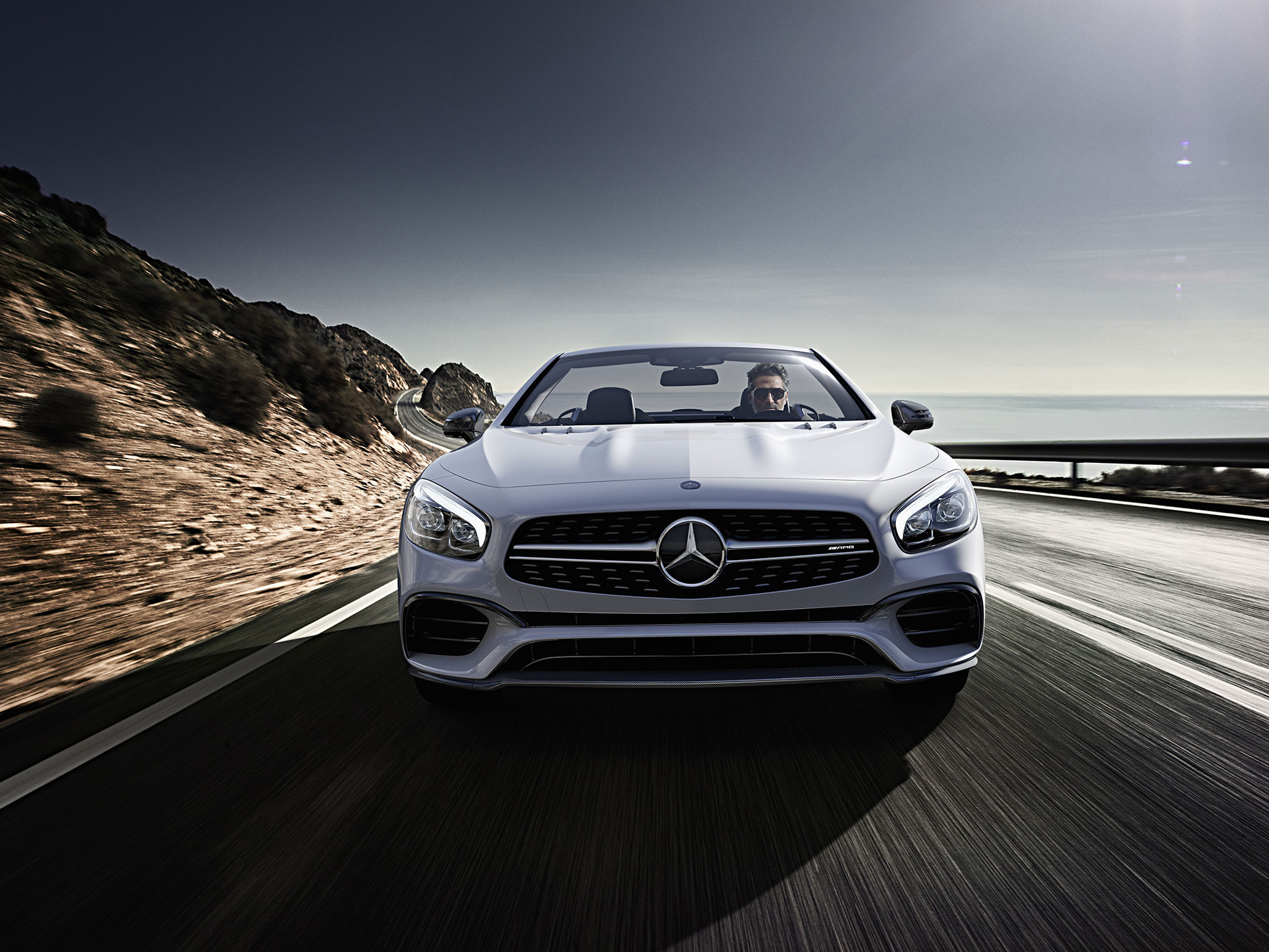 Amg Sl63 In Iridium Silver With Standard Active Led Headlamps