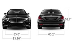 Mercedes-Benz 2014 S CLASS S550 LUXURY SEDAN SPECS FRONT BACK D