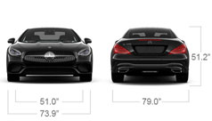 Mercedes-Benz 2017 SL SL550 ROADSTER SPECS FRONT BACK D